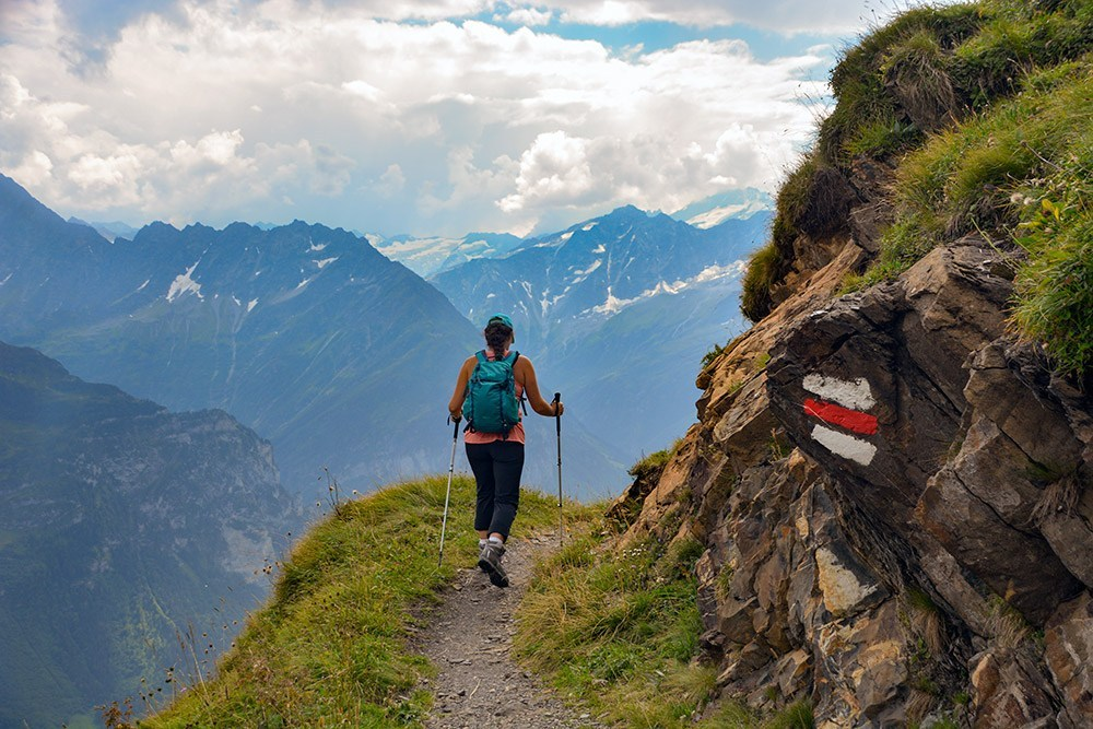 Dana Walsh switzerland hiker ridge
