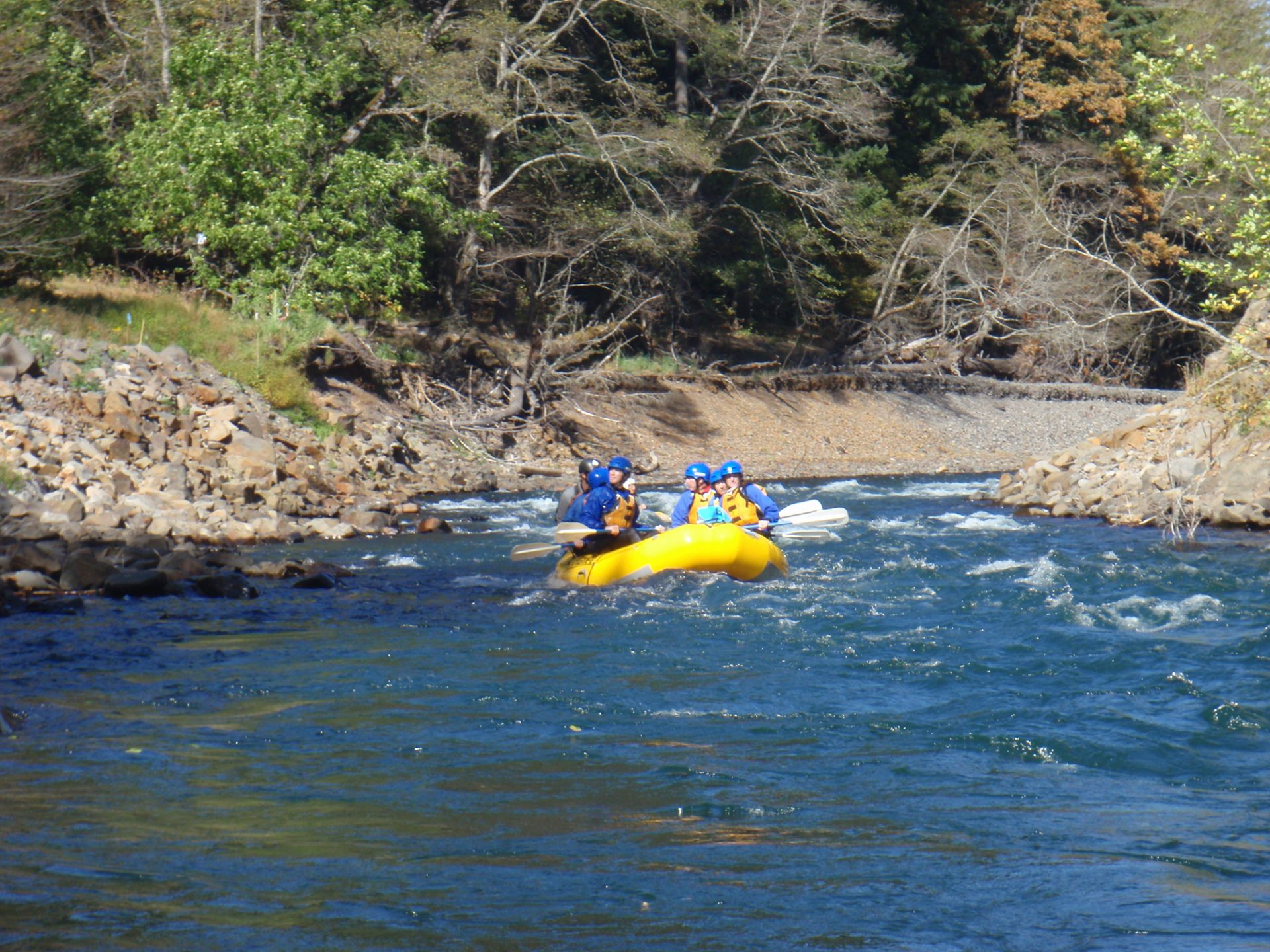 Rafting Over Condit Damn