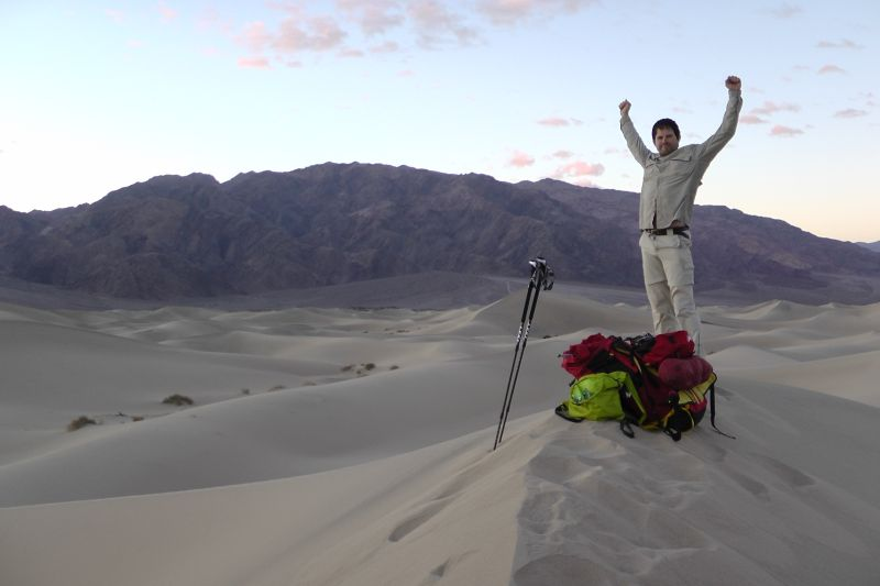 Traverse Death Valley on foot unsupported