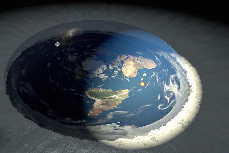 flat earth image